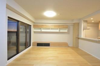 リビング、テレビ台、吊り棚、造作、眺望、スタイルJ、住環境ジャパン