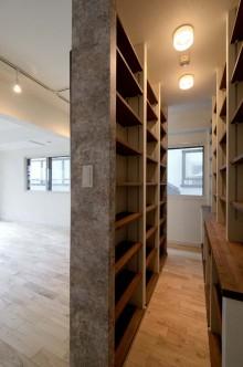 収納棚、造作、コモンスペース、すむ図鑑