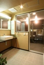 浴室、サーモタイル、透明ガラス、アレックス