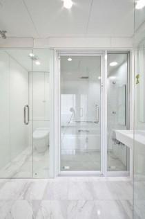 サニタリー、ガラス扉、ホテルライク、洗面、アレックス