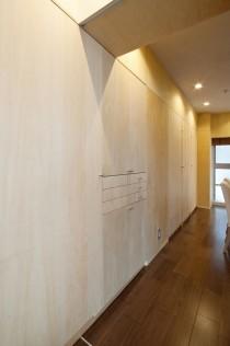 廊下、造作、収納、可動棚、引出、アレックス
