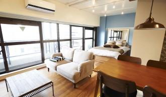 アクセント、クロス、寝室、ベッドスペース、リノまま
