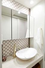 サニタリー、脱衣所、浴室、バスルーム、回遊、動線、リノまま