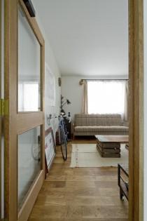 アンティーク調、廊下、木製ガラス、ドア、DENEGGPLUS