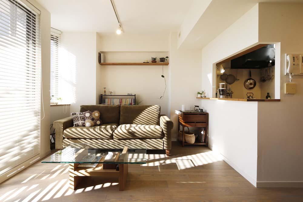 「スタイル工房」のリノベーション事例「白のハーモニーで作る二人のこだわり空間」
