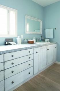 壁塗装、洗面台、カウンター、鏡、造作、内窓、株式会社FILE、フィール