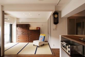 和室、引き戸、段差なし、畳、スタイル工房