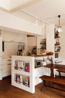 マガジンラック、本棚、ニッチ、タイル壁、スタイル工房