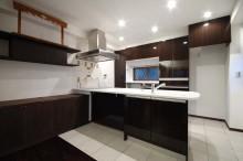 キッチン、台所、大判、タイル、床、壁、すむ図鑑
