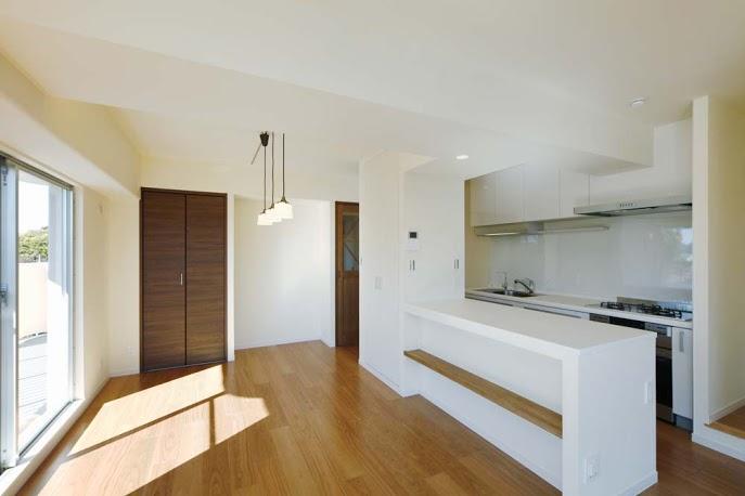 ダイニング、キッチン、対面、飾り棚、カウンター、ロクサ