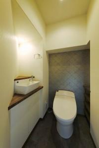 トイレ、手洗い、アクセントクロス、すむ図鑑