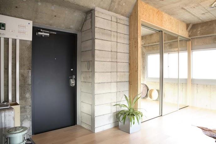 ミラー、収納、コンクリート、躯体、リノベーション東京