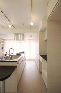 生活動線、キッチン収納、壁面、アレックス