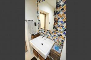 タイル壁、モザイクタイル、洗面台、Renomama 、リノまま