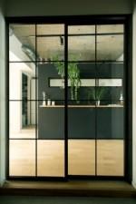 格子、モルタル、床、黒板、壁、howzlife