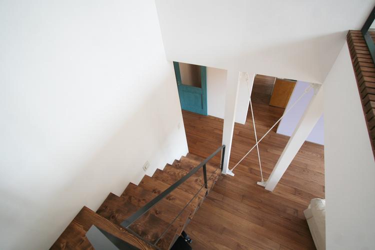 階段、アイアン、手すり、吹き抜け、総合建築職人会