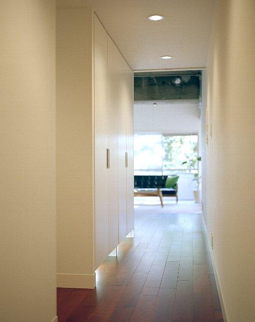 玄関、廊下、収納、壁、単身、リノベーション、リノベーション東京