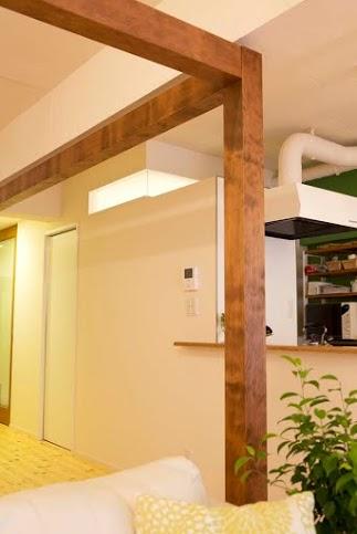 梁、柱、寝室、仕切り、スタイル工房