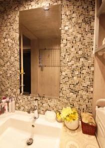 洗面台、モザイクタイル、サニタリー、リノステージ