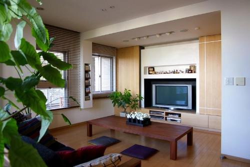 テレビ収納、テレビボード、リビング、ニッチ壁、漆喰、スタイル イズ スティルリビング