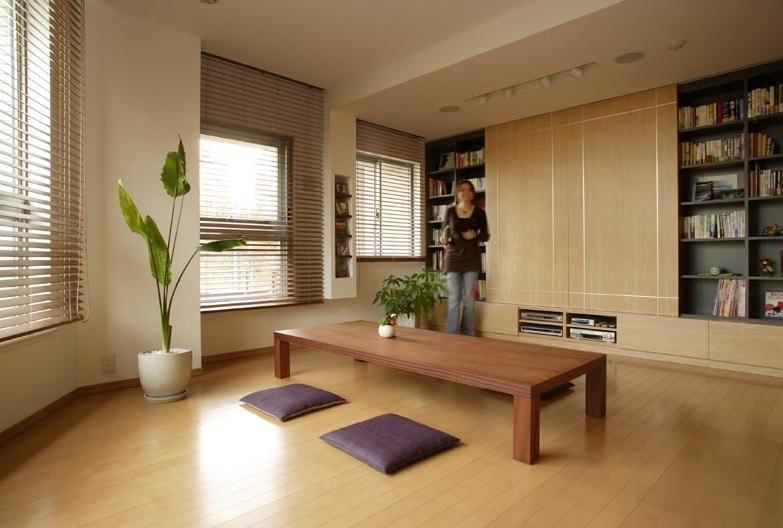 リビング、テレビ収納、スライド、扉、壁一面、収納、ニッチ棚、スタイル イズ スティルリビング