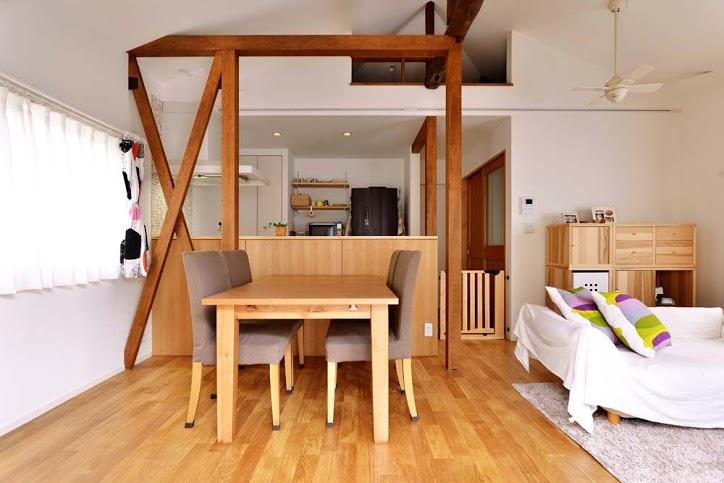 「スタイル工房」のリノベーション事例「無垢材の温もりと開放感が心地よいリビング」