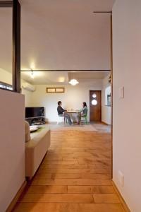 趣味部屋、リビングダイニング、独立壁、横長窓、グラデン