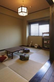 照明、和室、畳、格子戸、横田満康建築研究所
