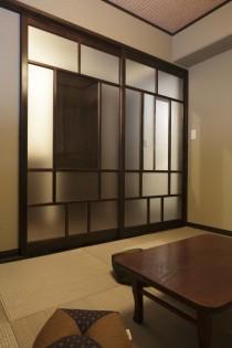 和室、畳、和モダン、格子戸、造作、横田満康建築研究所