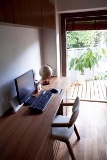 ワークスペース、デスク、机、収納、ウッドデッキ、スタイル工房