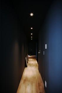 廊下、壁塗装、ダウンライト、照明、ナイン、9、マンションリノベーション