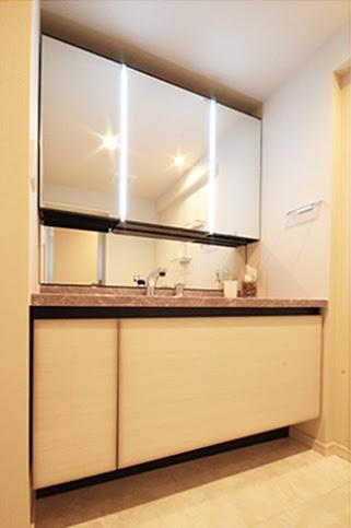 洗面、トイレ、リノベーション、タイル、床 、リノマンション