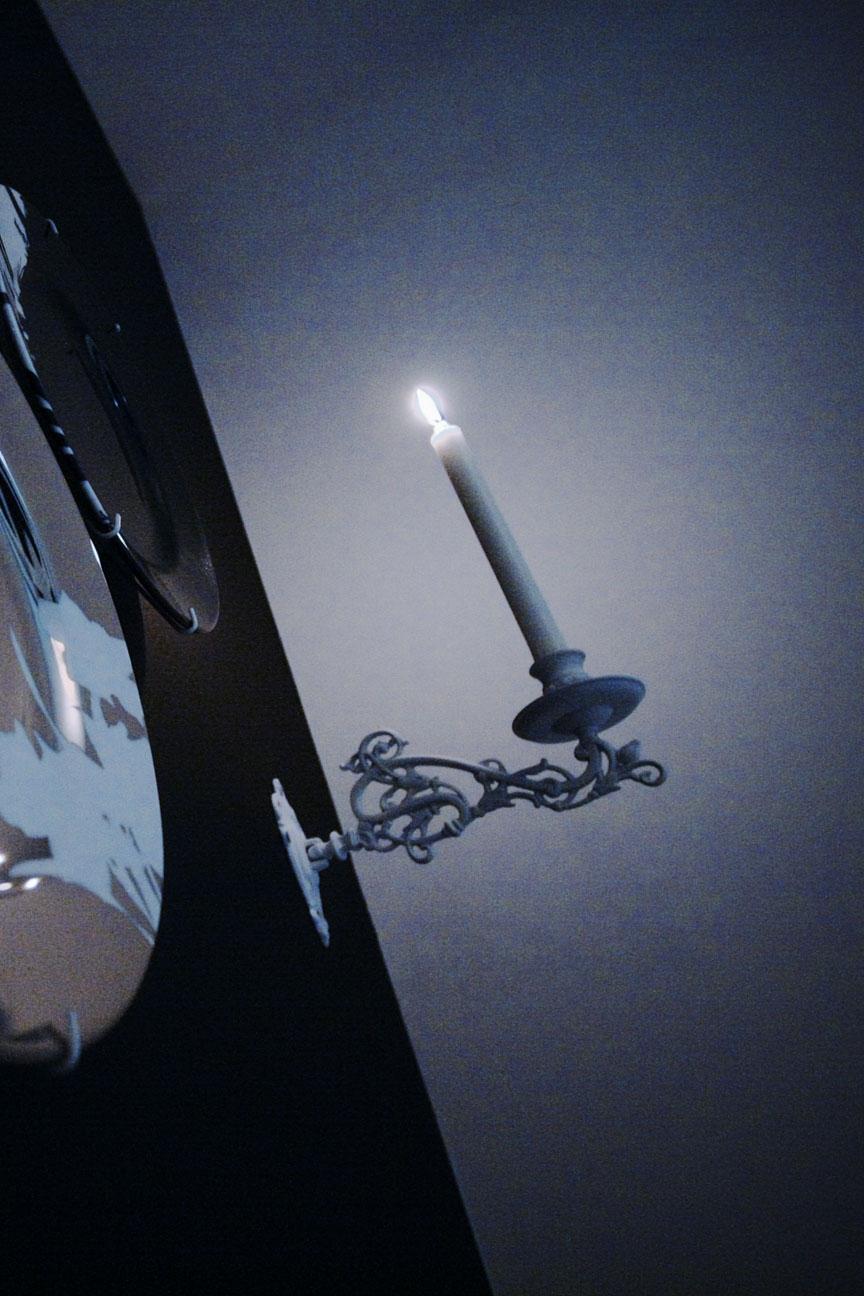 塗装、照明、アンティーク、燭台、ナイン株式会社