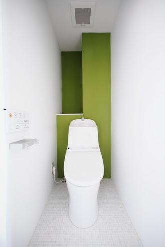 アクセント、壁、トイレ、モザイクタイル、リノベーション、ナイン