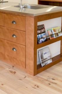 キッチン、収納、造作、マガジンラック、実家、リノベーション、スタイル工房