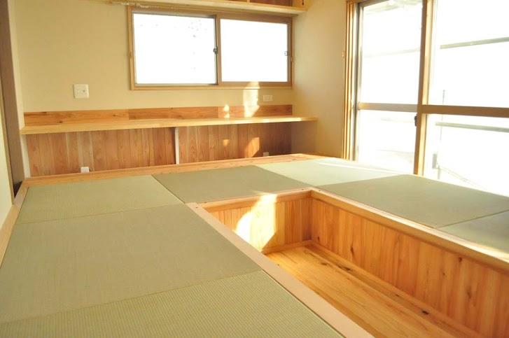 一枚板、テーブル、掘りごたつ、ダイニング、畳、和室、自然素材、駿河屋