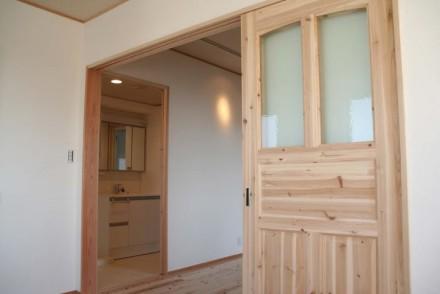 建具、無垢、自然素材、荏胡麻、ワックス、仕上げ、駿河屋