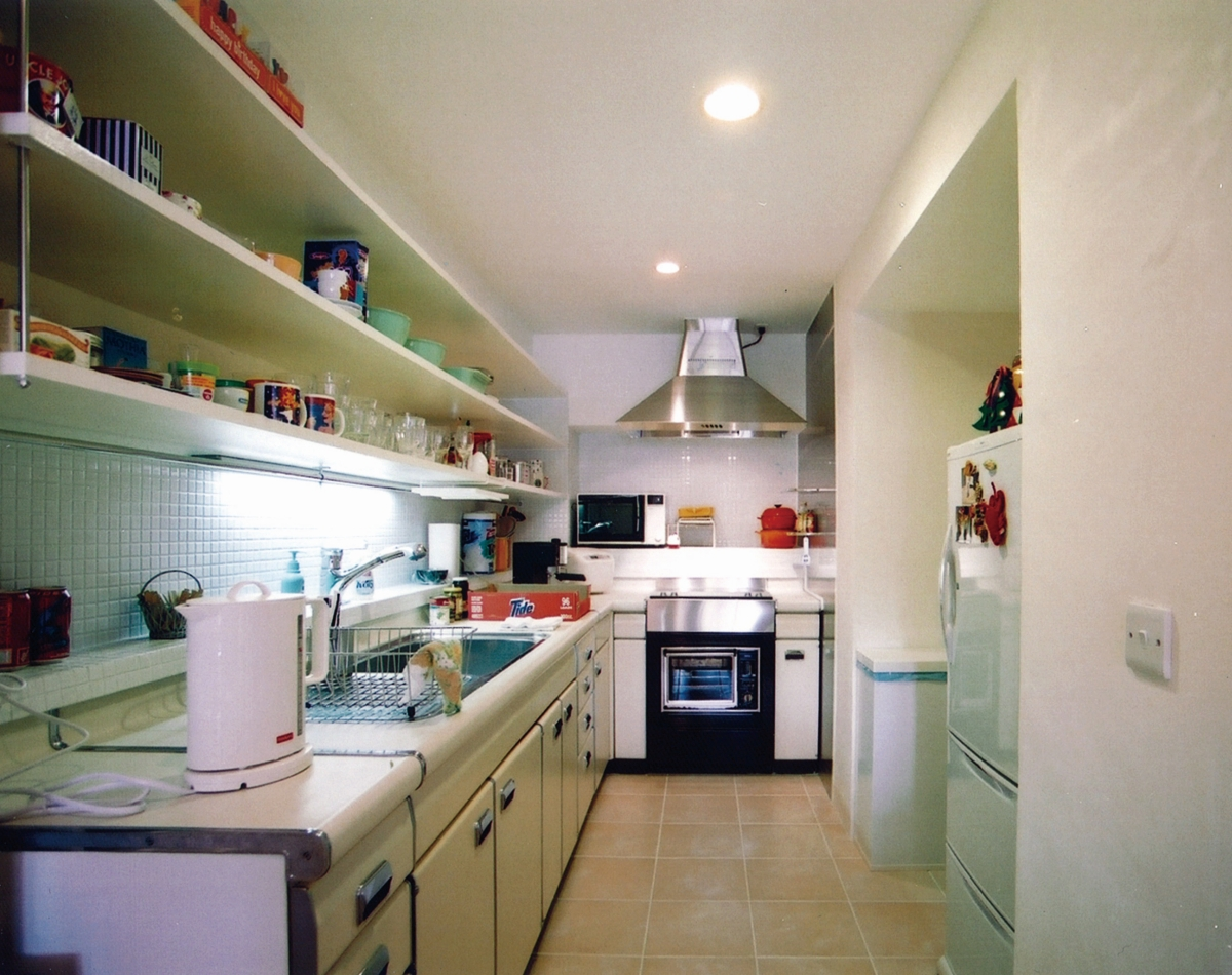 タイル、壁、キッチン、台所、マンションリノベーション、エキップ