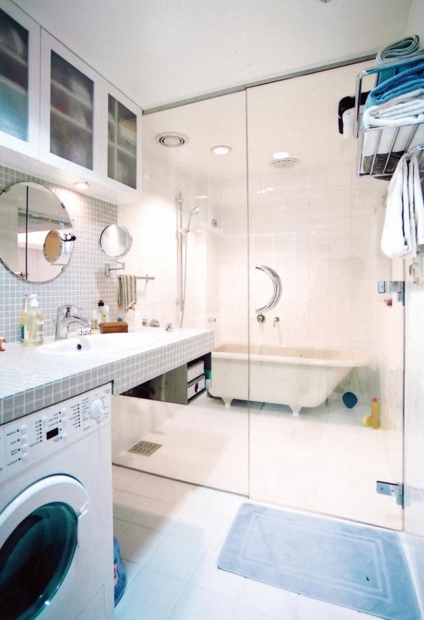 洗面、バス、浴室、タイル、壁、床、マンション、リノベーション、水回り、エキップ