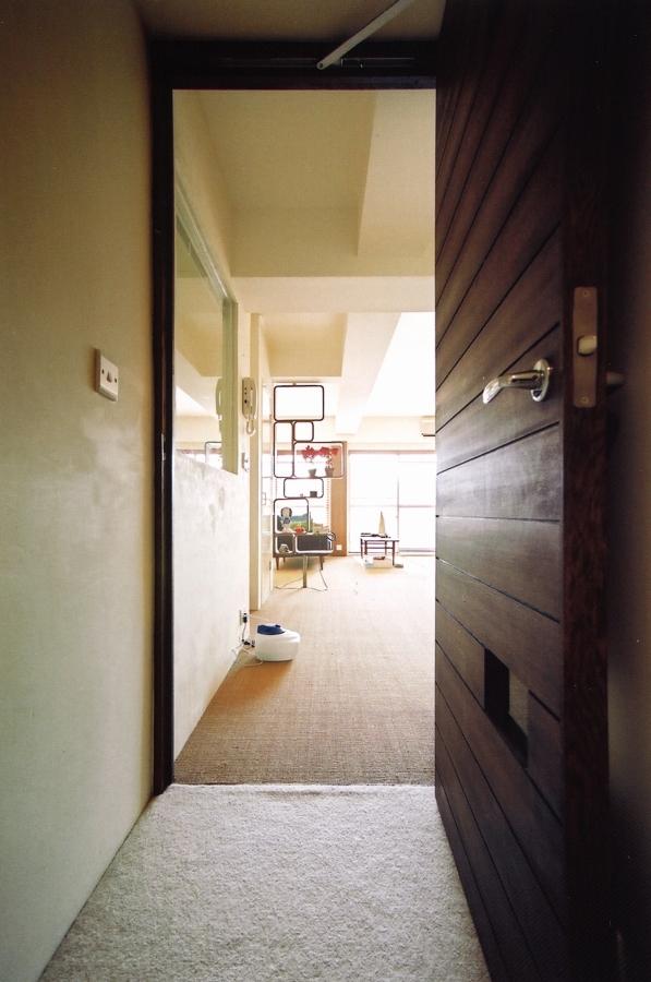 廊下、ダイニング、建具、ドア、自然光、マンション、リノベーション、エキップ