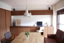 ダイニング、テーブル、カフェ風、造作、DIY、マンション、リノベーション、スタイル工房