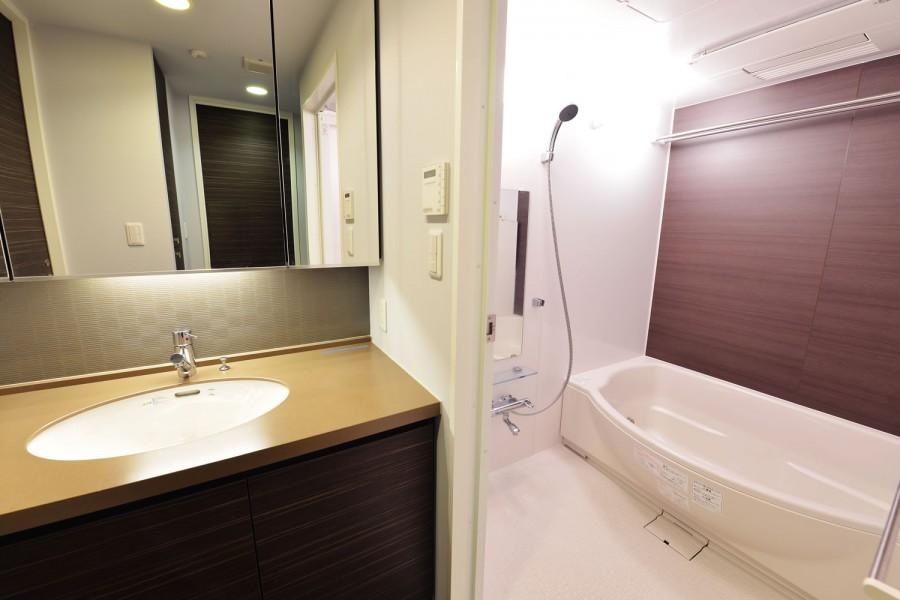 浴室、バスルーム、洗面台、マンション、リノベーション、ビートハウス