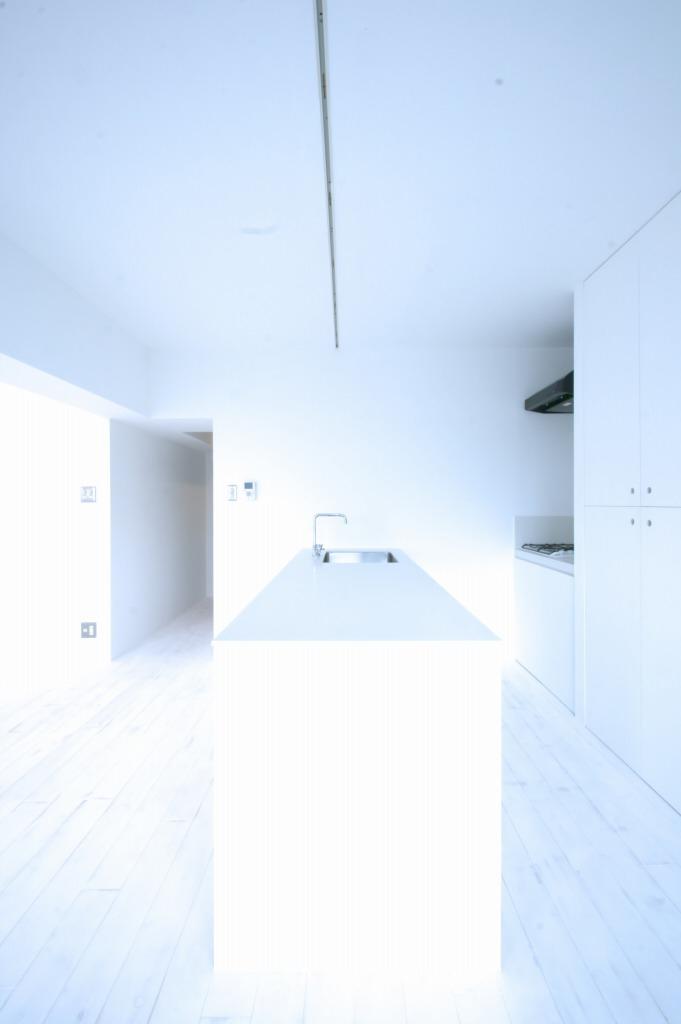 独立型、キッチン、壁収納、団地、リノベーション、リフォーム、ナインデザイン
