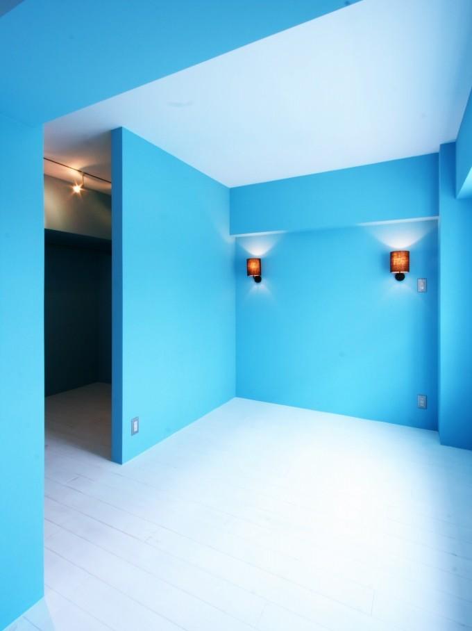 ベッドルーム、寝室、壁塗装、間仕切り、独立壁、9、ナイン