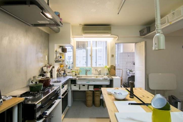 キッチン、作業台、フルオーブン、ステンレス、マンション、リノベーション、エキップ