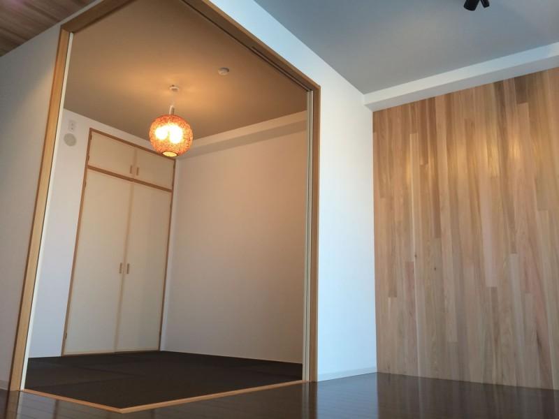和室、和モダン、引き戸、一角、マンション、リノベーション、ビートハウス