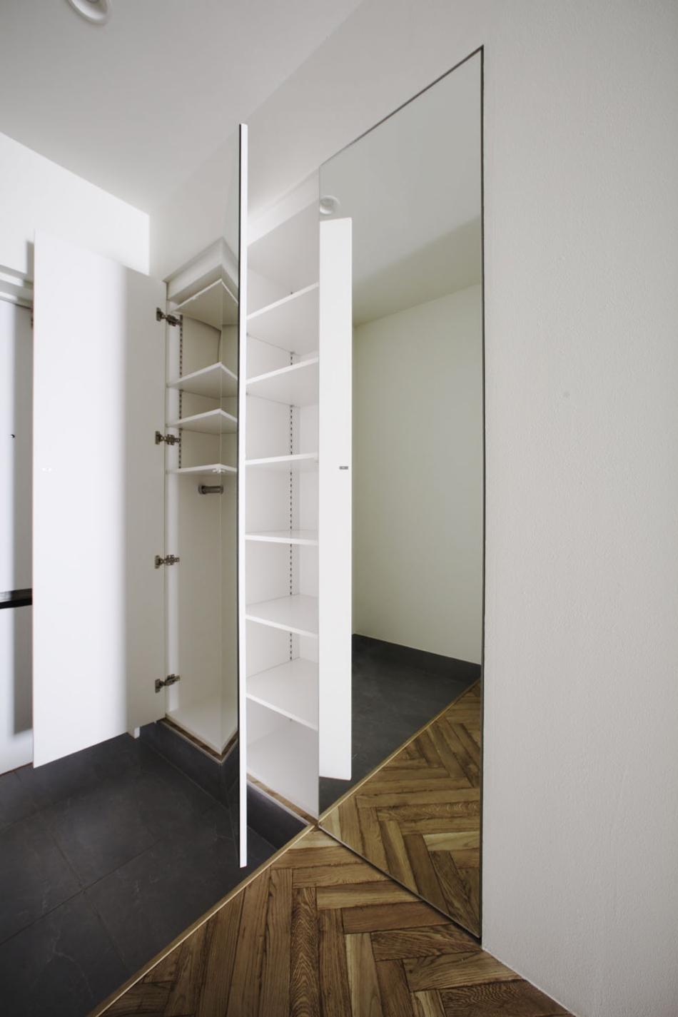 玄関、収納、鏡、ミラー、棚、リフォーム、ナイン、9