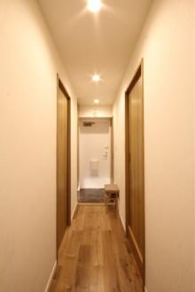 玄関、廊下、引き戸、動線、マンション、リノベーション、リフォーム、リノステージ
