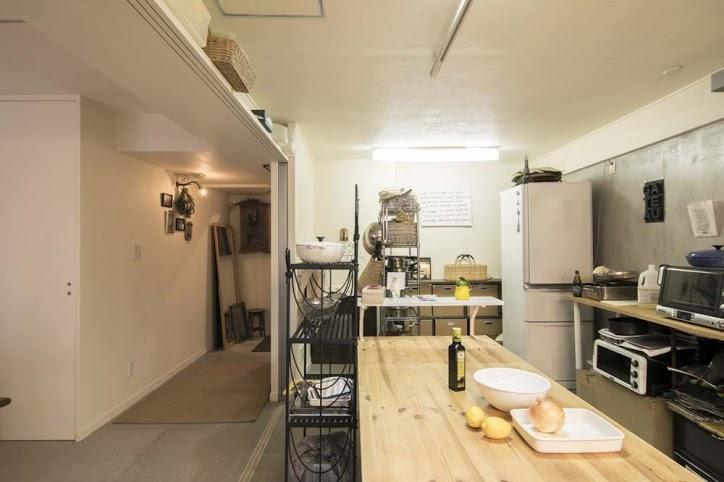 可動、間仕切り、収納、廊下、キッチン、マンションリノベーション