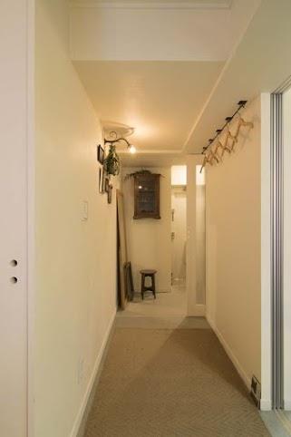 廊下、玄関、コート掛け、マンション、リノベーション、エキップ